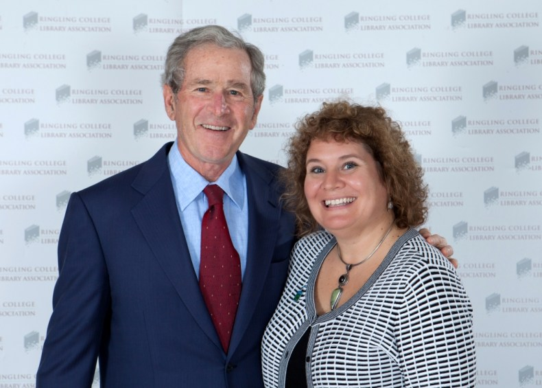 Since I'm Writing About the Bush Family, Thought I'd Throw in This Photo of Me with President George W. Bush in Sarasota Earlier This Year. Image Credite: http://www.robertpopephotography.com