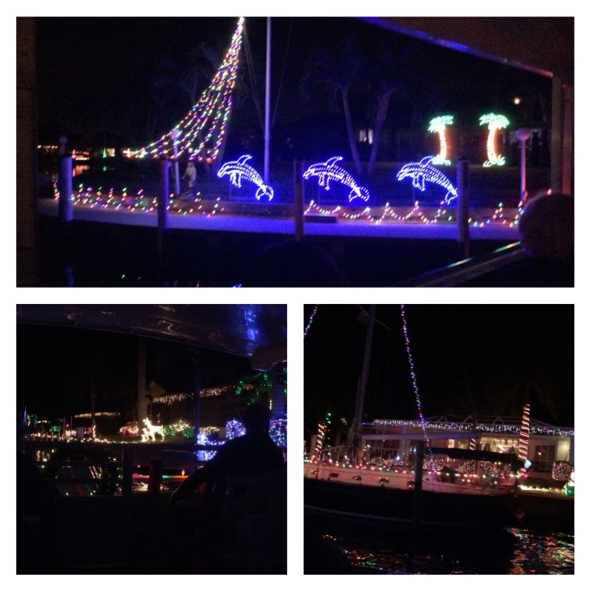 Christmas Light Canal Cruise with King Fisher Fleet and Banana Bay Tour Company, Punta Gorda, Fla., Dec. 2014