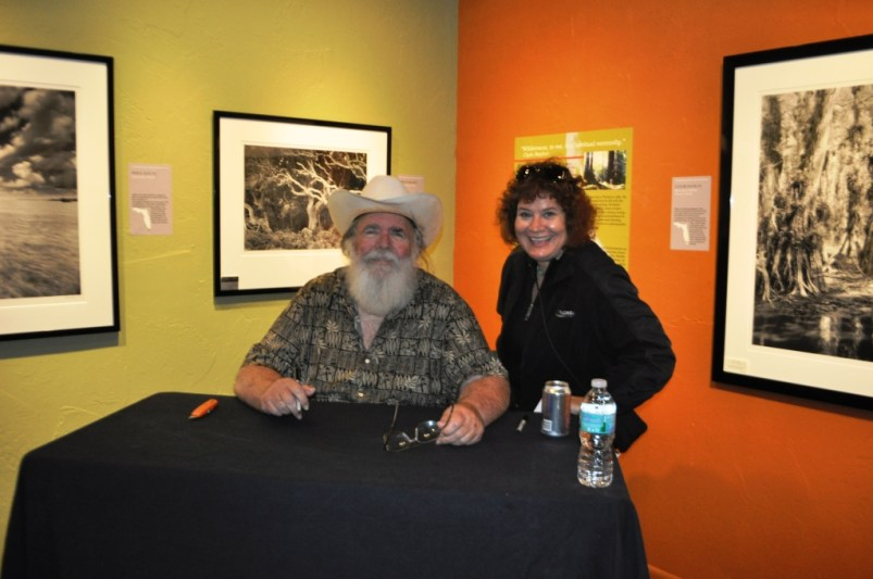 """Finally Meeting Photographer Clyde Butcher at His Big Cypress Gallery, Florida. Why is My Mouth Open? I Was Saying """"Alligator"""" vs. Cheese. Feb. 14, 2015"""