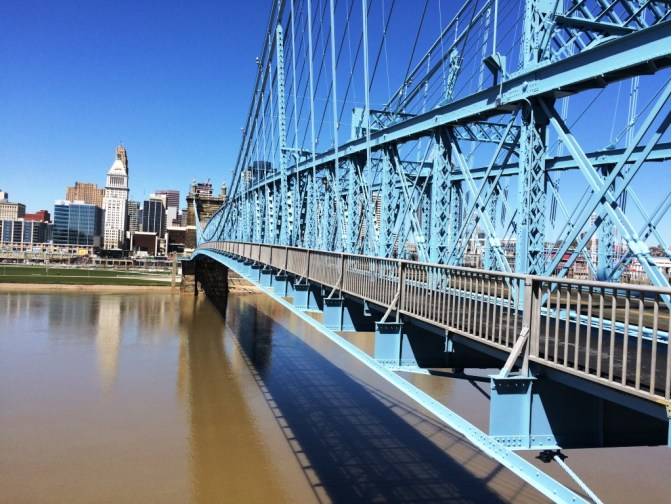 John A. Roebling Suspension Bridge, Cincinnati, Ohio, April 2016