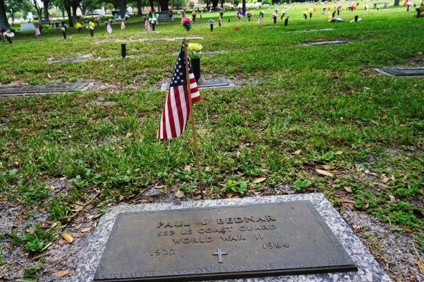 A Flag Was Placed on My Grandfather's Grave for Memorial Day.