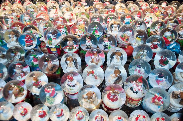 Snow Globes at the Frankfurt Christmas Market, 2015