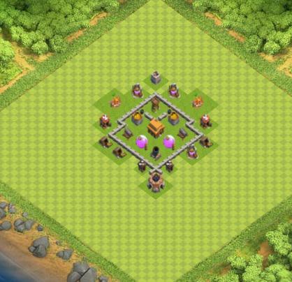 village clash of clans hdv 3 coc sur. Black Bedroom Furniture Sets. Home Design Ideas