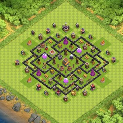village clash of clans hdv 8 coc sur. Black Bedroom Furniture Sets. Home Design Ideas