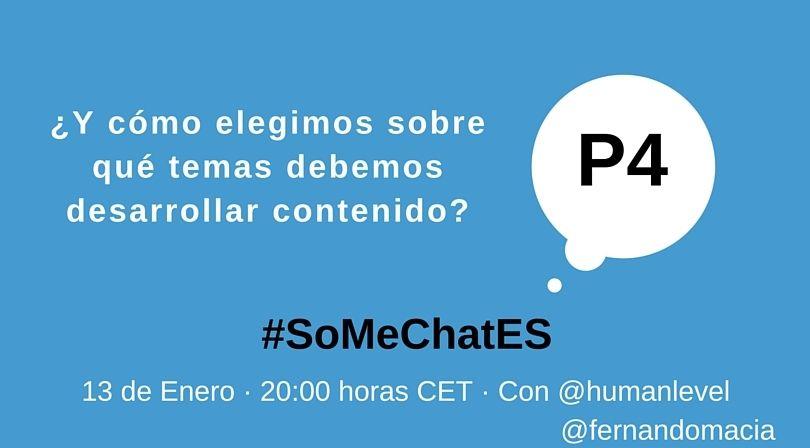 #SoMeChatES pregunta 4 Twitter chat Fernando Maciá
