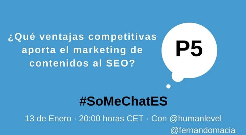 #SoMeChatES pregunta 5 Twitter chat Fernando Maciá