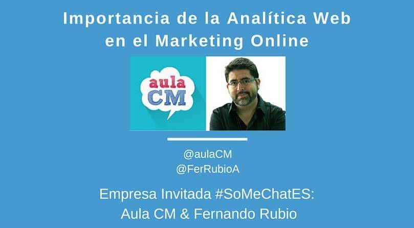 Analitica web Twitter chat Aula CM Fernando Rubio