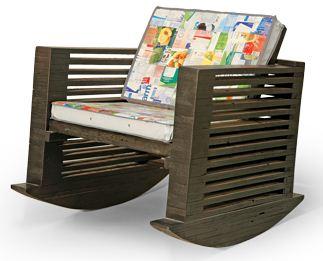 Móveis reciclados - Cadeira de balanço