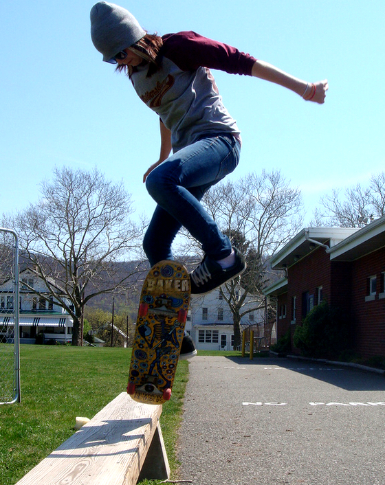 female-skateboarder