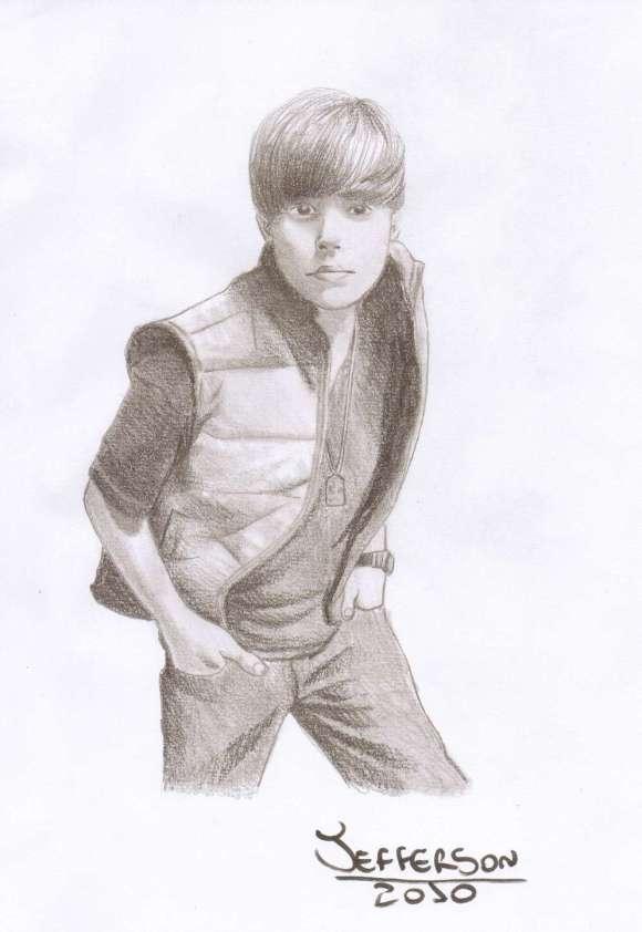 Desenho de Justin Bieber