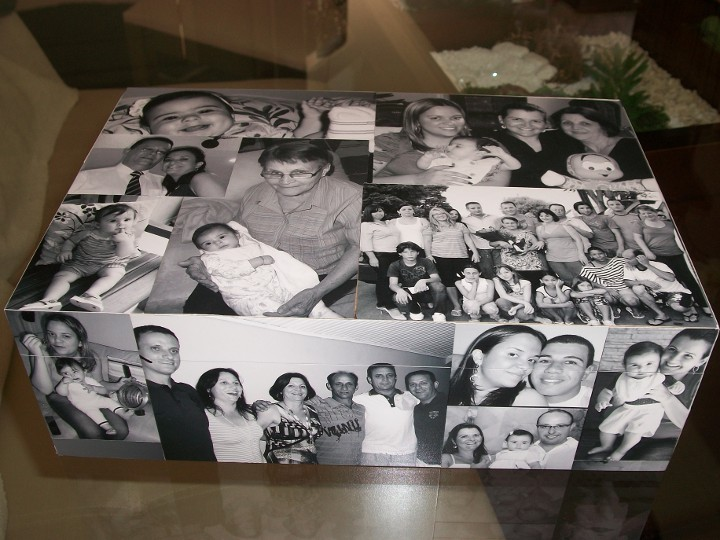 Caixa decorada com fotos