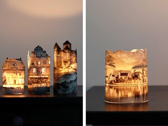 Luminária com fotos