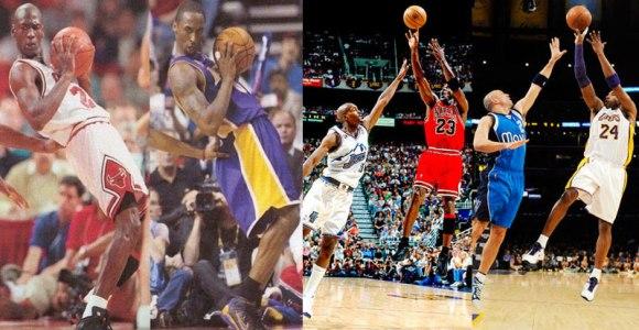 Vídeos provam que Kobe Bryant joga basquete exatamente como Michael Jordan