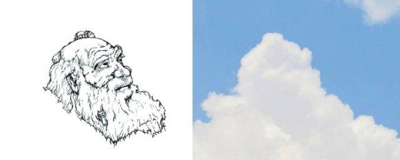 Desenho em nuvens - Darwin (2)