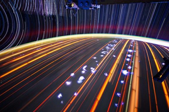 Fotos em longa exposição do espaço (3)