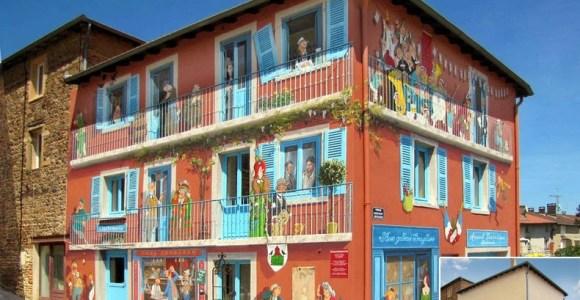 Artista transforma muros sem graça em fachadas maneiras, porém falsas