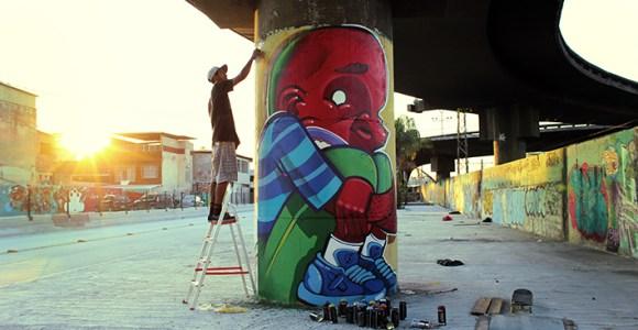Grafiteiro carioca bola um jeito diferente para expor seu trabalho em galerias de arte