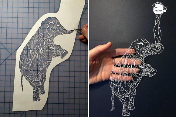Escultura de papel cortado 7