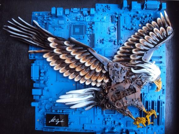 Animais de sucata - águia