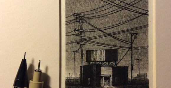 Artista faz mini desenhos de paisagens urbanas incrivelmente detalhados usando apenas caneta
