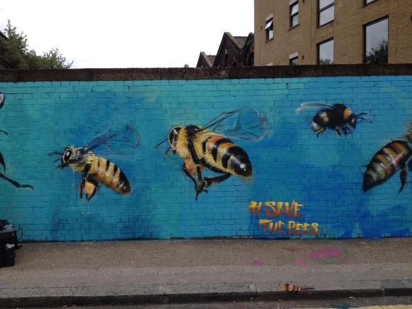 Grafite abelhas 1