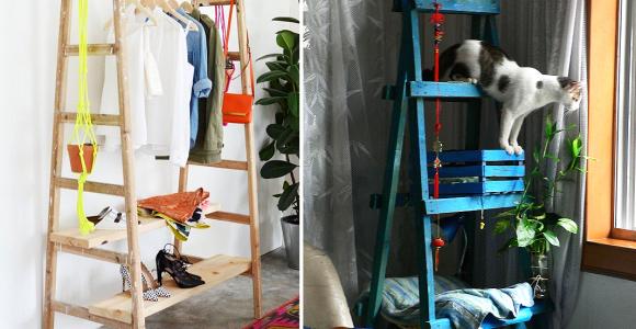11 ideias criativas que vão mudar o modo como você usa uma simples escada