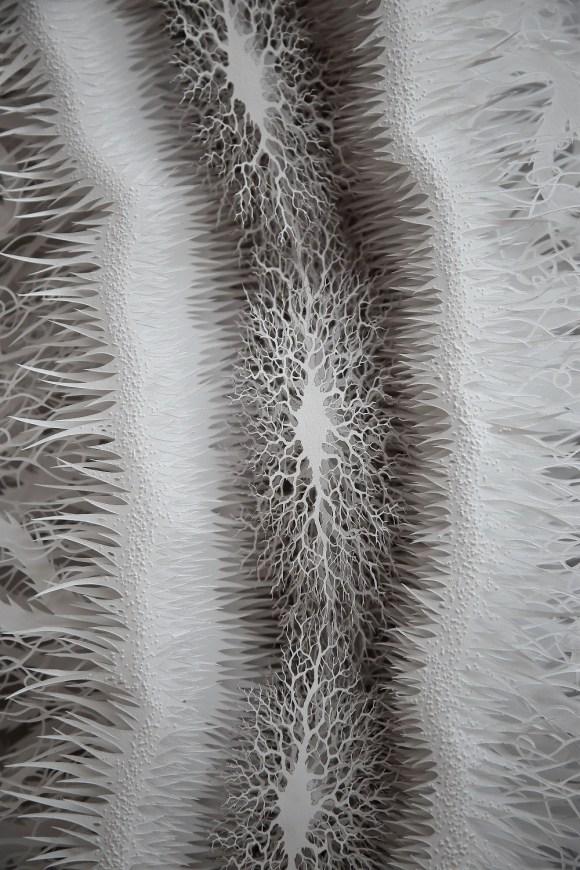 Escultura - bactéria de papel 4