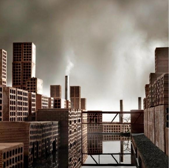 Maquete de cidade com tijolos 5