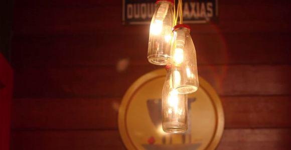 Aprenda agora a fazer luminárias com garrafas de vidro de um jeito simples!