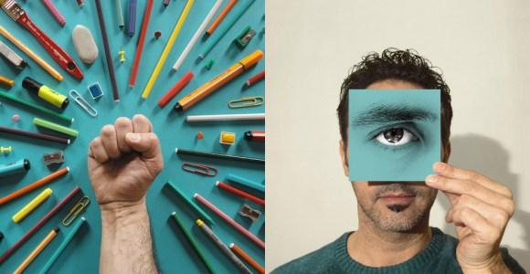 Artista explora cores e objetos para criar fotografias surreais e enigmáticas