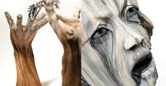 Parece madeira, mas esse artista usa cerâmica para fazer suas incríveis esculturas