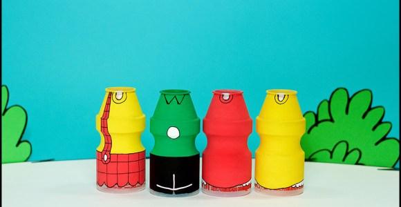 Artista brasileiro recria personagens da Turma da Mônica em potes de Yakult