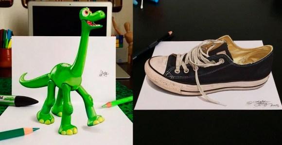 Esses desenhos em 3D parecem não depender de papel