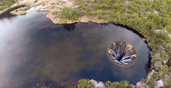 Gravado por drone, vídeo registra espécie de ralo gigante em ribeira de rio português