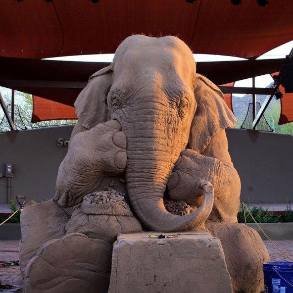 Escultura de areita - elefante 3