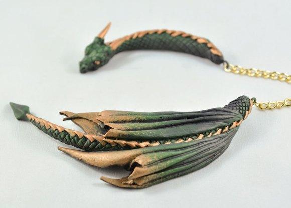 Colar e pulseira de dragão 5
