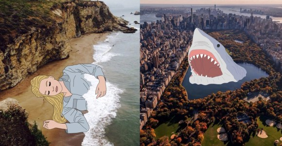 Para romper com a normalidade, artista faz criativas ilustrações em fotografias