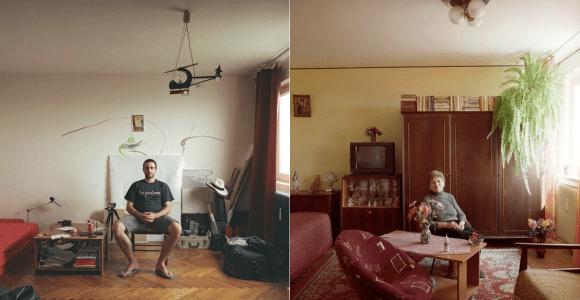 Ele fotografou a vida em apartamentos idênticos de um mesmo prédio