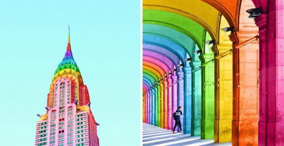 Encher o mundo de cores é a motivação desse usuário do Instagram