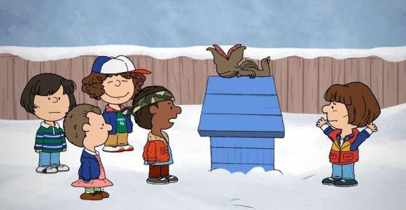 E se Stranger Things tivesse acontecido no universo de Snoopy e Charlie Brown?