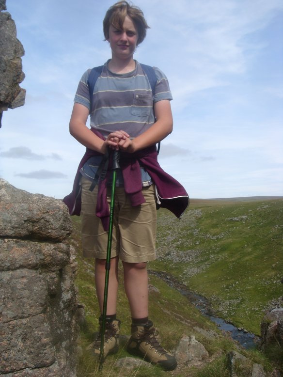 Tom at Tavy Cleave Rocks