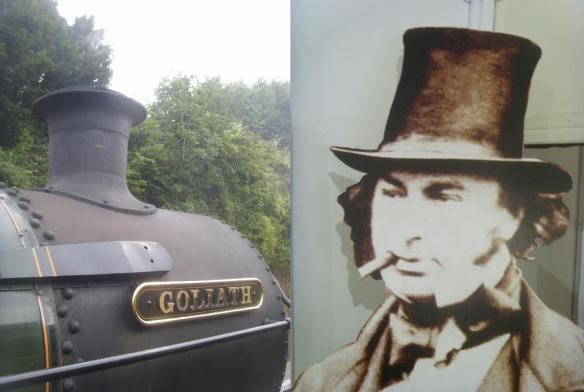 Lookie-likies.  Two goliaths of the Dartmouth Steam Railway...
