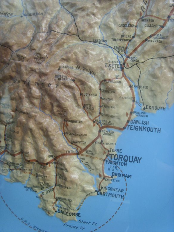 Map at Dartmouth Steam Railway and River Boat Company.