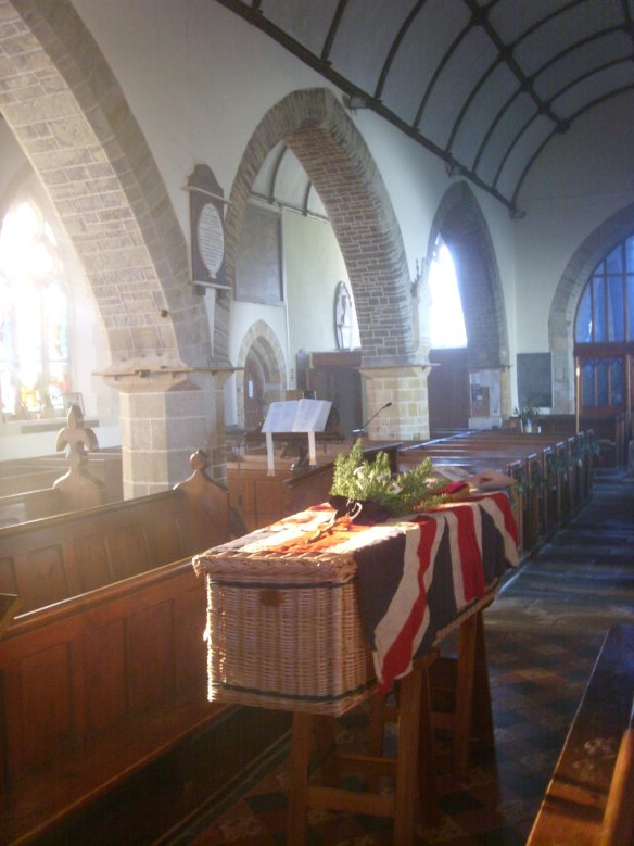 The aisle and arches of St. Edmund's. Something about Dartmoor