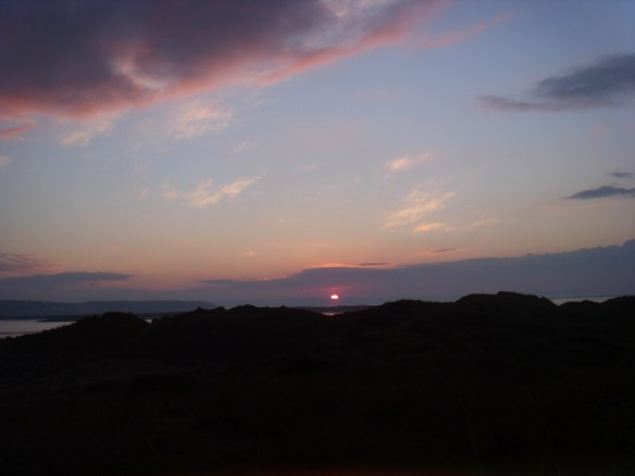 Setting Sun from Crow Point Dunes. Something About Dartmoor