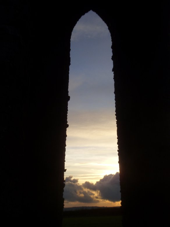 Daymark Tower archway. Something about Dartmoor