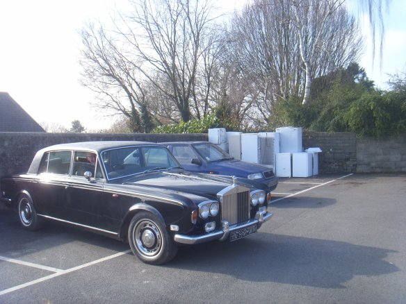 Rolls-Royce next to my Skoda. Something about Dartmoor