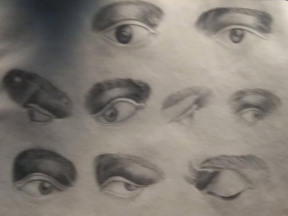 Some eyes that caught my eye in the Bronte Parsonage Museum.