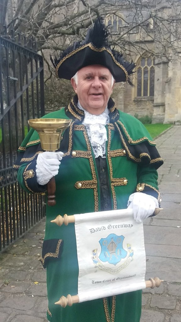 Greenman. Dave Greenway - Glastonbury's Town Crier own