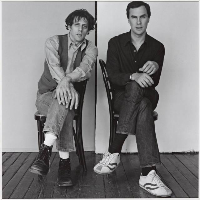 'Philip Glass and Robert Wilson' 1976, Robert Mapplethorpe (via The Mapplethorpe Foundation)